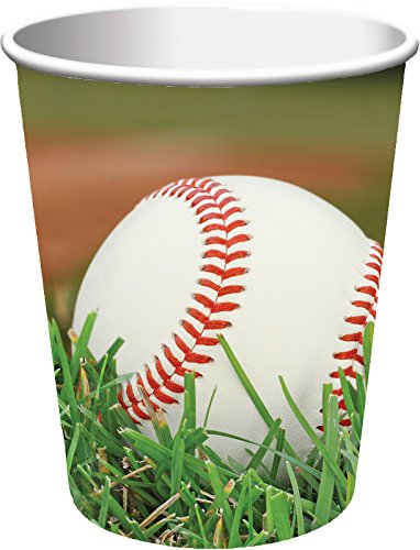Creative Converting 377963 Sports Fanatic Baseball Hot/Cold Cups, 9 oz, Multicolor -