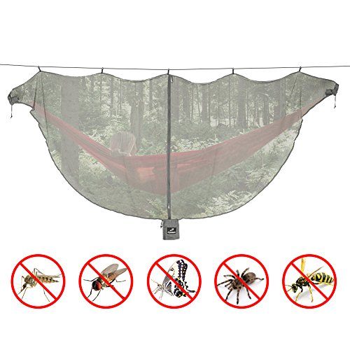 Hammock Mosquito Net by Lhedon,Advanced Portable Lightweight Hammock Bug Net for 360° Mosquitos Protection,Universal Fit All Single Double Camping Hammocks - Protection Mosquito Net Bug