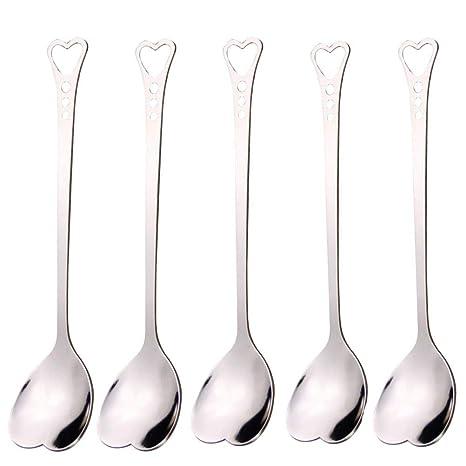 Amazon.com: WarmShine 5 cucharas de acero inoxidable con ...