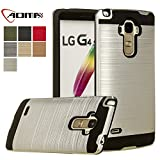 LG G Stylo Case, LG G4 Stylus Case, Aomax@ Anti-Shock Brushed Metal Texture , TPU & PC Dual Layer Hybrid Non-slip Protective Case For LG G4 Stylus / G Stylo / LS770 (VLS Armor Silver)