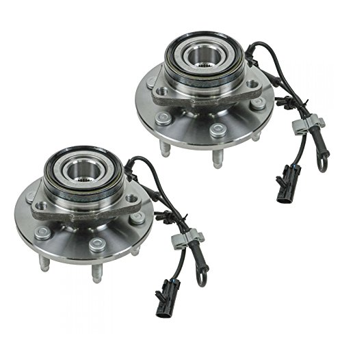 2 Front Wheel Hubs & Bearings Pair Set w/ABS for Chevy GMC Truck 4X4 4WD