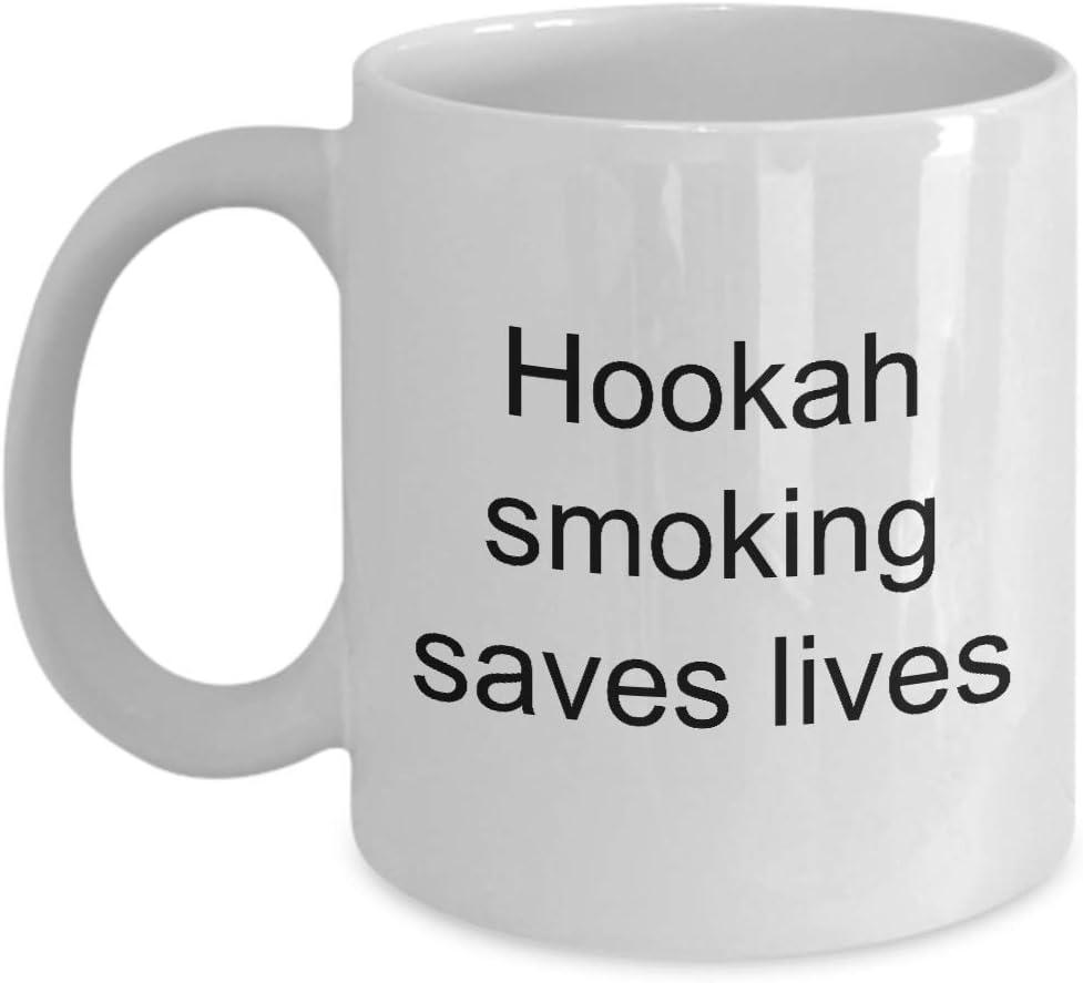 N / A Regalos para Amantes de la cachimba Fumar Salva Vidas Taza Taza de café Divertida