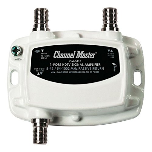 Channel Master CM-3410 1-Port Ultra Mini Distribution Amplifier for Cable and Antenna Signals
