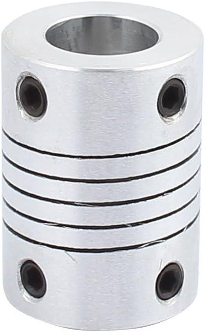 sourcing map 8mm mit 8mm Aluminum Legierung Motor Stecker L25xD20 Silbern DE