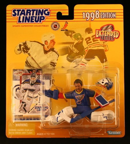 Starting Lineup GRANT FUHR / ST. LOUIS BLUES 1998 NHL Action Figure & Exclusive Collector Trading Card