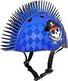 C-Preme Mohican Raskullz Eyepatch Mohawk Bike Helmet–Blue, One Size
