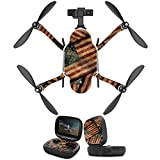 MightySkins Protective Vinyl Skin Decal for GoPro Karma Drone headphones wrap cover sticker skins Vintage American