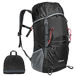 G4Free Large 40L Lightweight Water Resistant Travel Backpack/foldable & Packable Hiking Daypack(Black)