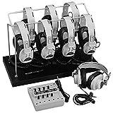 Califone 1218AV-03 8-Position Listening Center, Includes: Headphone Storage Rack, Eight 2924AV Monaural headphones and 8-position 1218AVPY Monaural jackbox