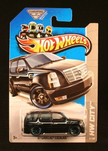 '07 CADILLAC ESCALADE (BLACK) HW CITY / STREET POWER 2013 Hot Wheels Basic Car 1:64 Scale Series Collector #6 of 250 by Hot - Power Black Escalade Wheels Cadillac