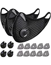 2 Sports Cycling Filter Cover with Activated Carbon 10pcs Filter