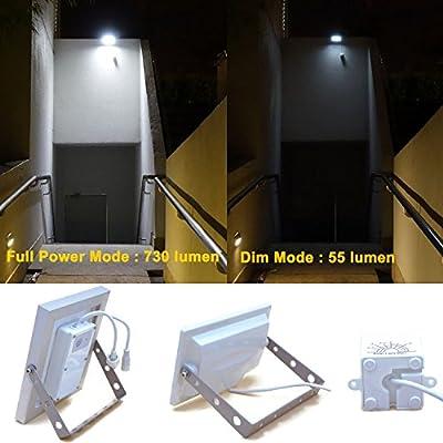 GUARDIAN 580X Solar Security Floodlight with Standalone PIR Motion Sensor and Lithium Battery, 730 Lumen Full Brightness, 3 Lighting Modes