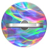 Round Phone Ring - Round Phone Holder - 360 Degree Rotation 3D Ring Grip for iPhone iPad Samsung Galaxy S9 LG Huawei Tablet - Rainbow Holographic