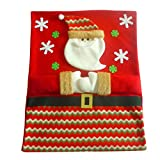 Norbi Santa Claus Christmas Chair Covers Red Hat Chair Back Coversfor Christmas Decorative Chair