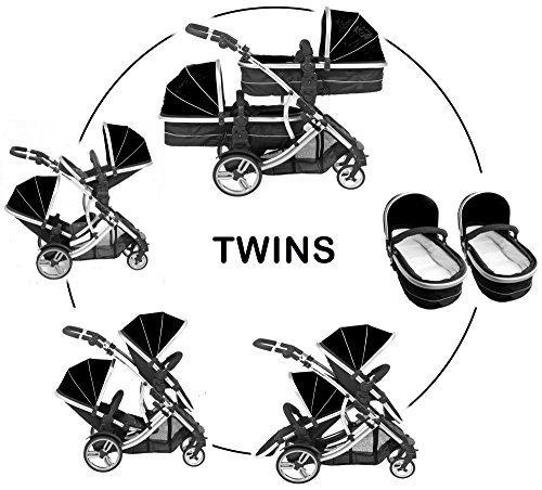 Kidz Kargo Geschwisterwagen Tandem Buggy Buggy Neugeborenes Babywanne Kinderwagen Travel System