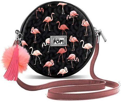 18 cm Nero Flaminpop-Runde Schultertasche Borsa Messenger Oh My Pop Black Pop