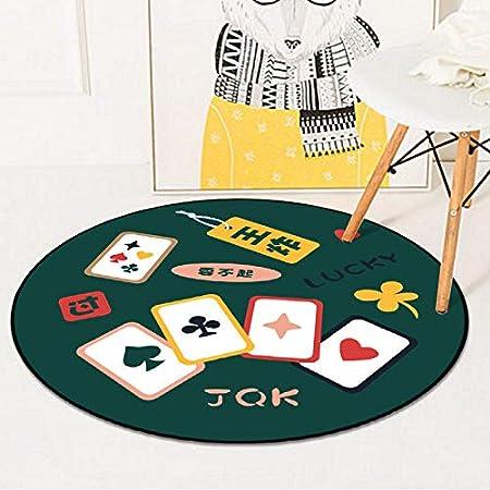 Yetta Home Mahjong Poker Rond Tapis Chambre Salon Table ...