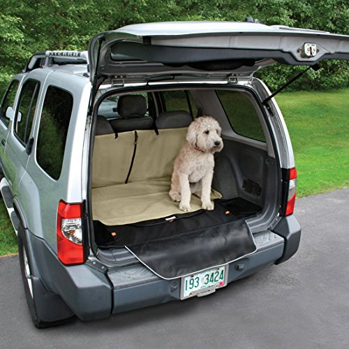 Kurgo Waterproof Car and SUV Cargo Cape Liner / Cover for Dogs, Hampton Sand Khaki