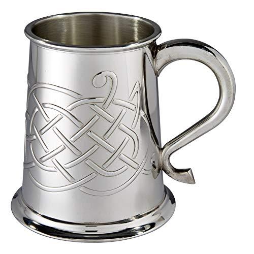 Wentworth Pewter Embossed Jura Celtic Knot Pewter tankard, Beer Mug, Christmas Gift ...