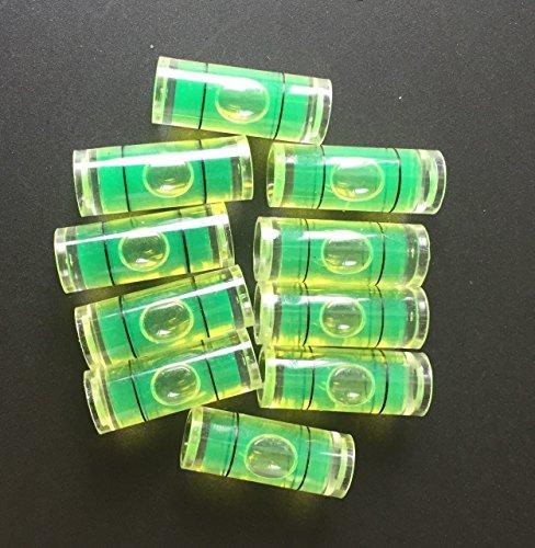 10 Pieces 9.5mm(D) x25mm Acrylic Tube Bubble Spirit Level Vial