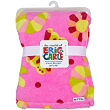 Eric Carle Baby Plush Printed Blanket, Large Baby Blanket, Toddler Crib, Stroller, and Carrying Cover, The Very Hungry Caterpillar, 30 By 40 Inches, Neutral Girls
