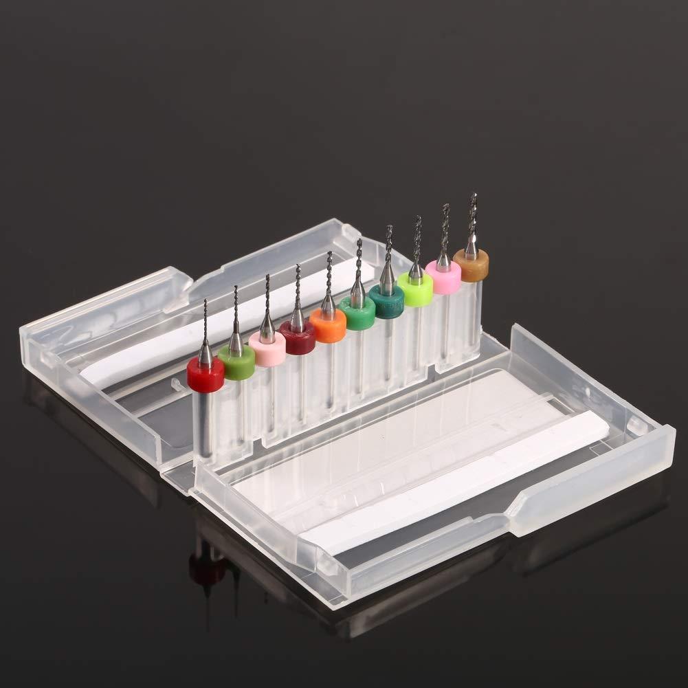 PCB Drill Bits-10pcs 0.6-1.5mm Cemented Carbide Mini Micro Drill Bits for CNC PCB Print Circuit Board