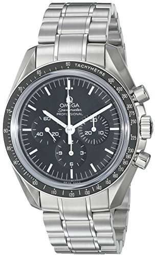 Omega Men s 31130423001005 Speedmaster Analog Display Mechanical Hand Wind Silver with Black Dial Watch