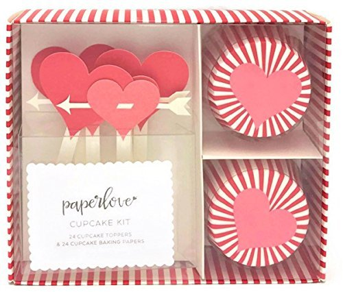 Paper Love Cupids Arrow Valentine Cupcake Kit]()