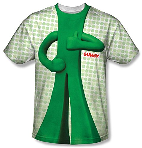 Gumby Pokey Costume (Gumby - Gumb Me Sub T-Shirt Size XL)