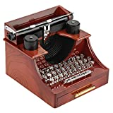 Vintage Style Typewriter Typer Shaped Music Box, Present Gift for Friends Kids, Clockwork Music Boxes, Home Decor