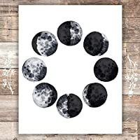 Moon Phases Wall Art Print - Unframed - 8x10