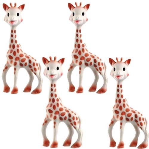 Vullie 616324-4 Sophie the Giraffe Teether Set of 4 by Vulli