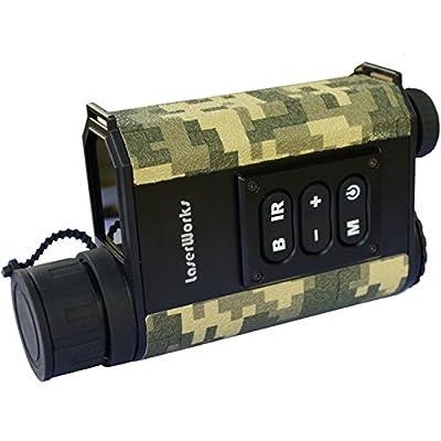 LaserWorks Night vision Rangefinder Monocular Night Vison Laser Range Finder Scope For Hunting Telescope Infrared monocular by DaZhen