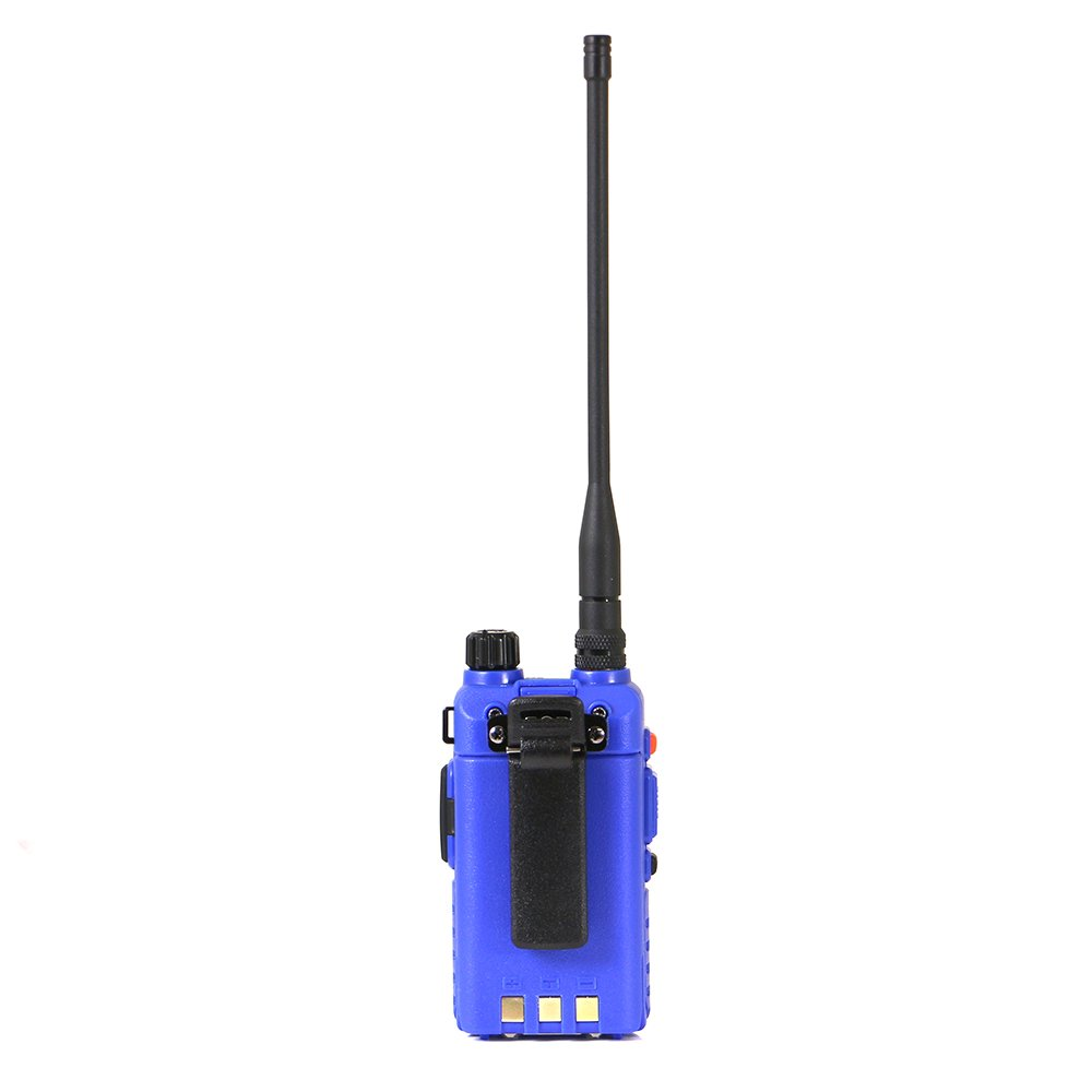 Belt Clip Battery Handheld Radio with Antenna Rugged Radios RH-5R 5 Watt Dual Band UHF//VHF AC Charging Dock and Earpiece with Lapel Mic RH5R-V2