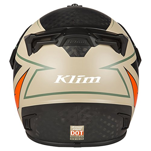 Amazon.com: Klim Krios Karbon Adventure Helmet ECE/DOT MD Valiance Dune: Automotive