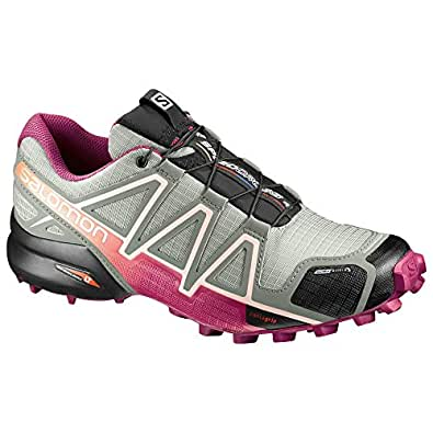 4c08e53941de Salomon W s Speedcross 4 CS Trail Shadow Sangria Peach Nectar 10   Quicklace