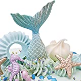 Beasea 10pcs Mermaid Tail Silicone Molds Cake Sugar Chocolate Fondant Mold Cupcake Decoration Pastry Gum Pastry Tool Tray Kitchen Tools Large + Small