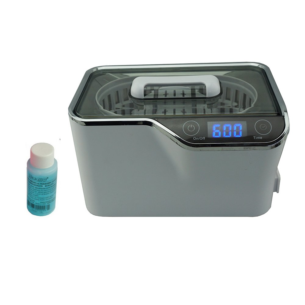 iSonic CDS-100 Digital Ultrasonic Cleaner with Touch-Sensing Controls for Jewelry, Eyeglasses and Watches, 1.3Pt/0.6L, 110V, 35W