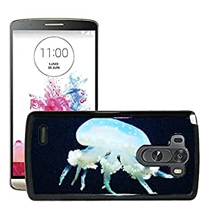 Hot Style Cell Phone PC Hard Case Cover // M00130887 Jellyfish Sea Marine Life Underwater // LG G3 VS985