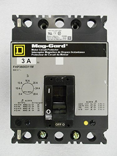 FHP3600311M 480V 1.1 to 1.6A 0.75HP Drive Controller Circuit Breaker