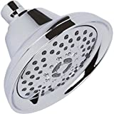 shower heads chrome - Massaging Shower Head High Pressure - Multi-Function, Massage Rainfall Showerhead With Boosting Mist For Low Flow Showers & Adjustable Water Saving Nozzle - Chrome