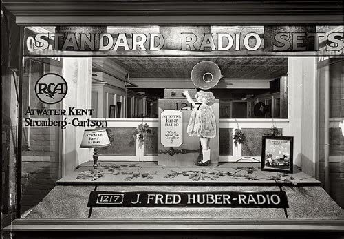 Amazon Com J Fred Huber Radio Store Window 1920s 8x10 Photo