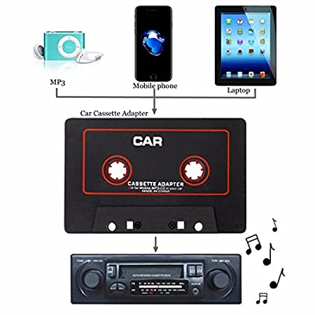 GOZAR Cassette Coche Estéreo Adaptador De Cinta Para Ipod Iphone Mp3 Aux Cd Player 3.5 Mm Jack: Amazon.es: Hogar