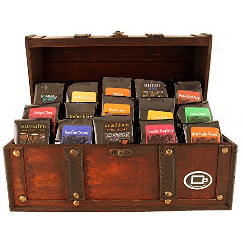 Treasure Chest of Coffee - I love how this is a box that can be used for something else in the future
