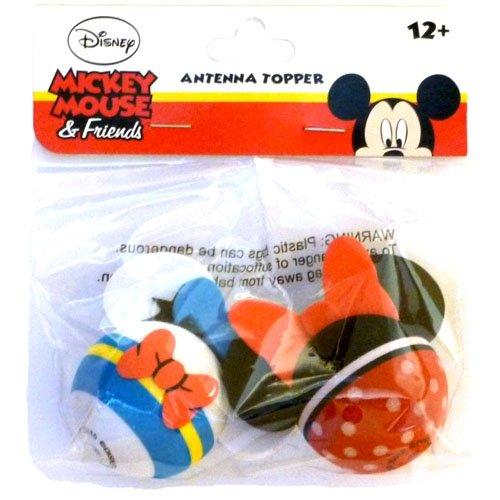 [해외]디즈니 도널드 덕과 미니 마우스 안테나 토퍼 세트/Disney Donald Duck and Minnie Mouse Antenna Topper Set