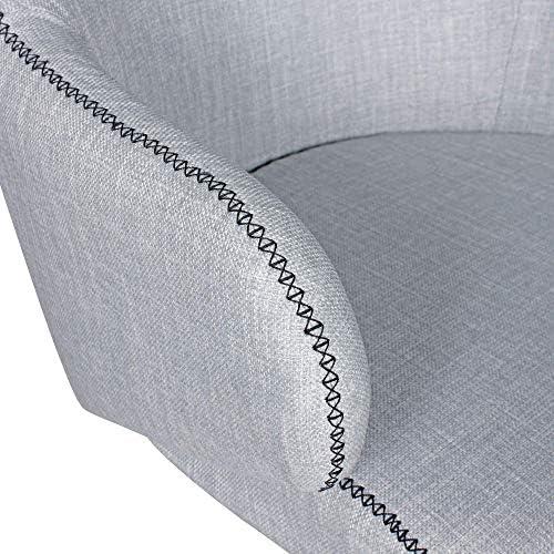 Wohnling giratoria Yuma gris 64 x 88 x 64 cm drehsessel plástico ...