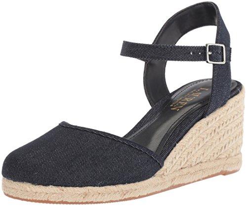 Lauren Wedge Dark Women's Sandal Espadrille Lauren Ralph Hayleigh Blue II wfxPaOqUw