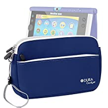 DURAGADGET Blue Water Resistant Neoprene Zip Carry Case With Front Pocket For The New Vtech InnoTab Max 7