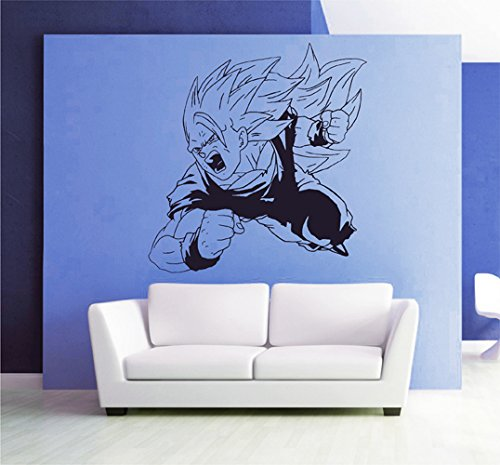 ik2646 Wall Decal Sticker skier goku dragon ball z game character living children's bedroom (Goku Children)
