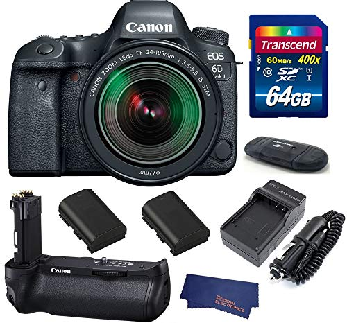 Canon EOS 6D Mark II (with 24-105mm is STM BG-E21 Grip Bundle)
